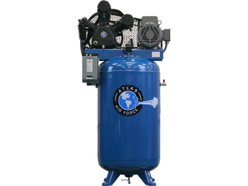 atlas air force af  stage single phase  gallon  rpm motor air compressor